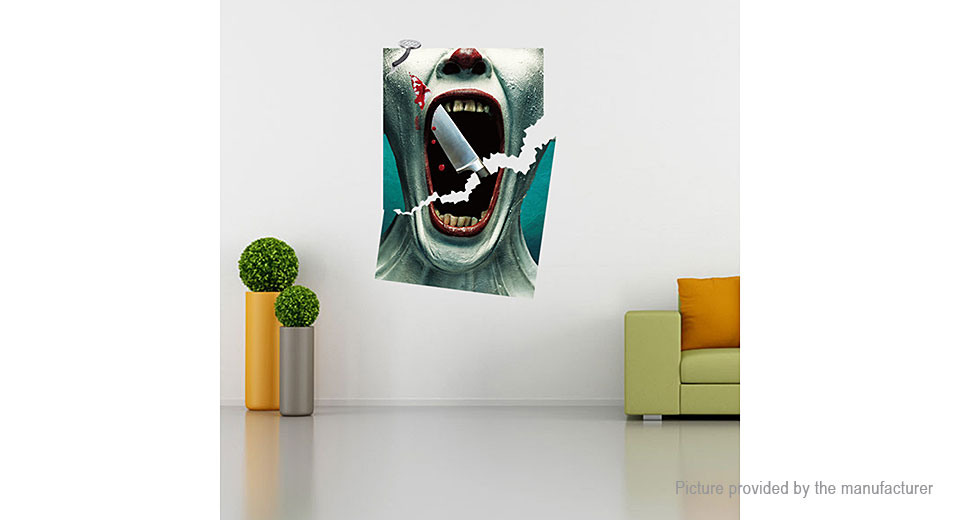 3D Terror Bloody Styled Removable Wall Sticker Halloween Decor