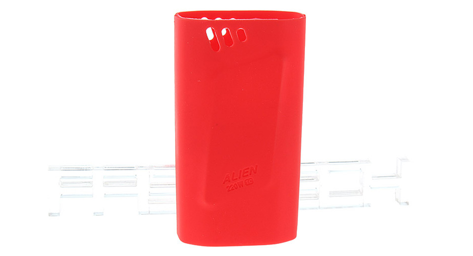 Authentic Clrane Protective Silicone Sleeve Case Smoktech SMOK Alien 220W Mod 220W, Red
