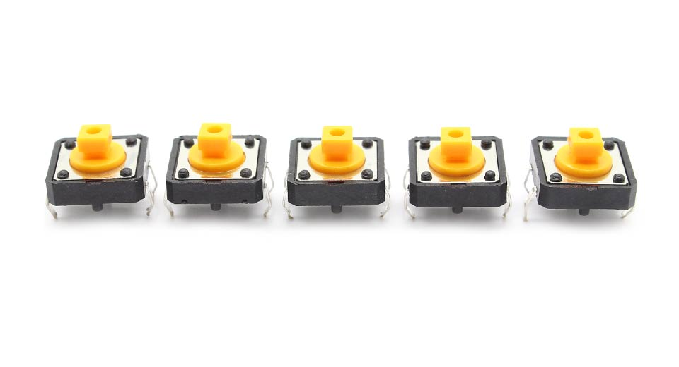 Image of 12*12*7.3mm 4-Pin Tact Switch Microswitch (5-Pack)