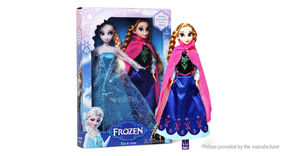 Frozen Princess Elsa&Anna Doll Figure Toy (2-Piece Set)