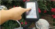 Motorcycle Rearview Mirror Mount Cell Phone Holder Stand Bag (Size XL)