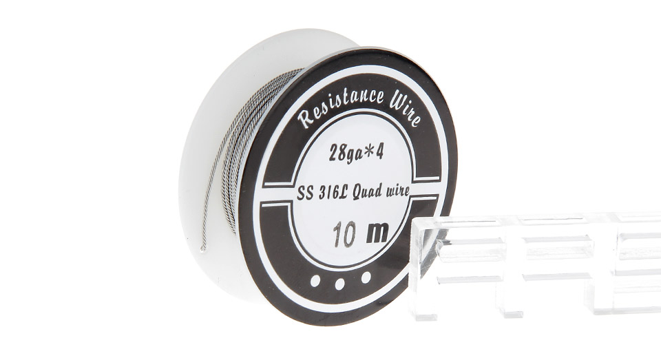 316L Stainless Steel Quad Heating Wire for RBA Atomizer Quad, 316L SS, 28*4 AWG, 10m
