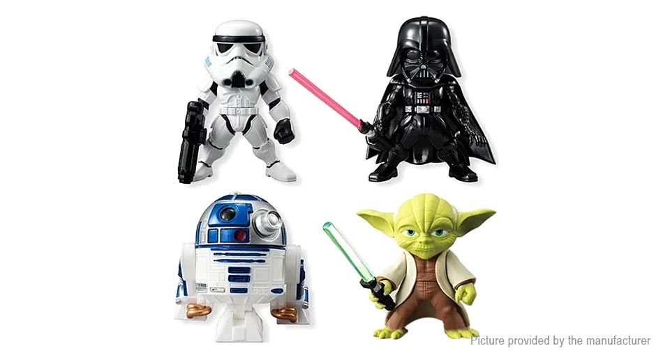 Star Wars Figure Doll Toy Set (4-Piece Set)