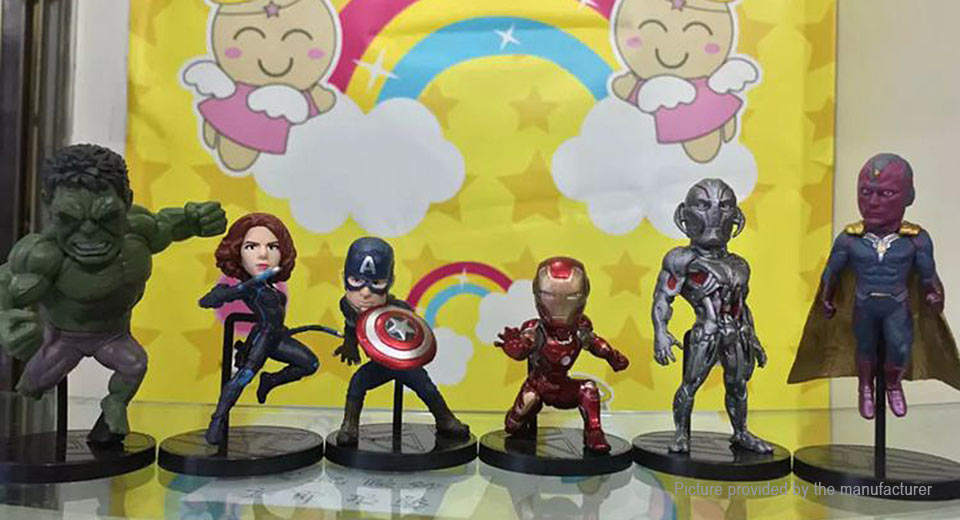The Avengers Figure Doll Toy Set (6-Piece Set)