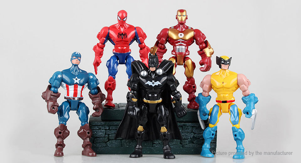 The Avengers Figure Doll Toy Set (5-Piece Set)