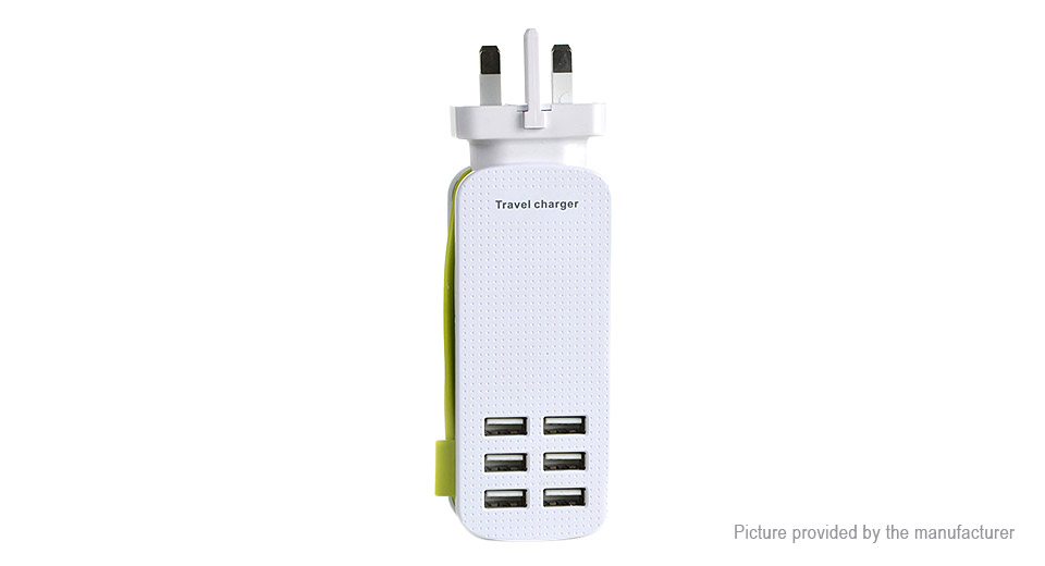 6-Port USB AC Travel Charger Power Adapter (UK)