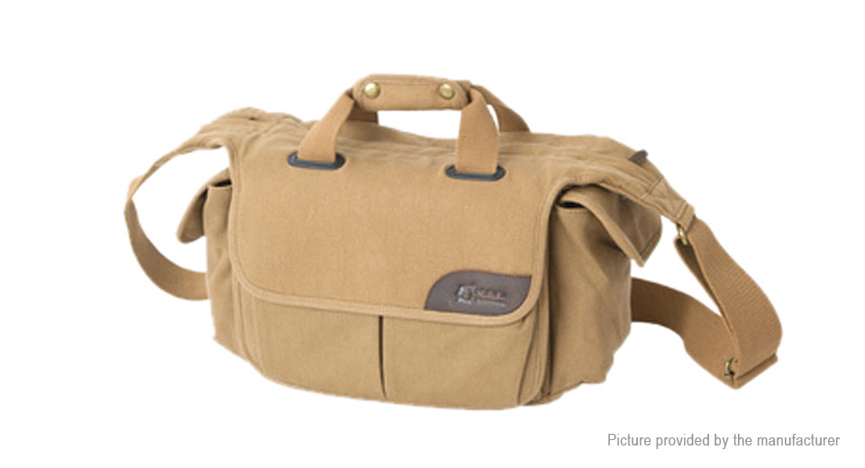 KANI CV-012M Canvas Camera Shoulder Messenger Bag, 11L