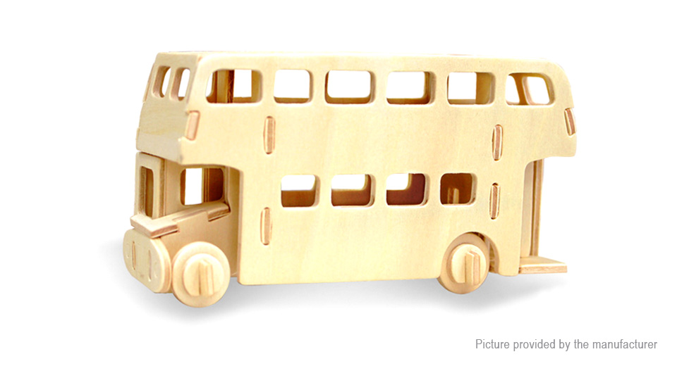 London Bus 3D Wood Puzzle Jigsaw Educational Toy