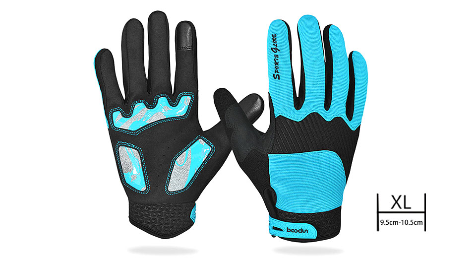 BOODUN Unisex Outdoor Cycling Full-finger Warm Keeping Gloves (Size XL)