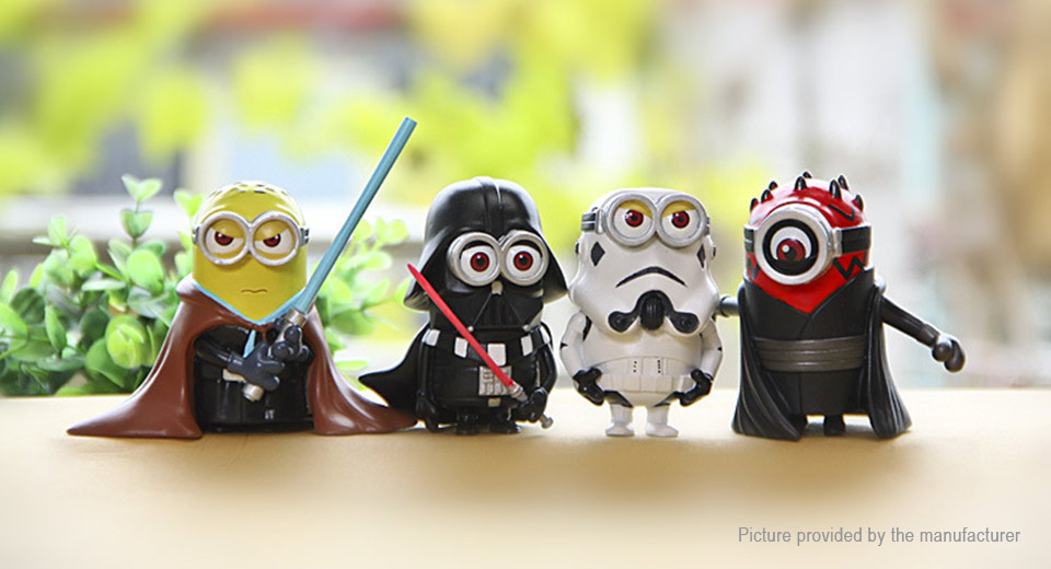 Star Wars Despicable Me Cartoon Mini Capsule Figure Doll Toy Set (4-Piece Set)