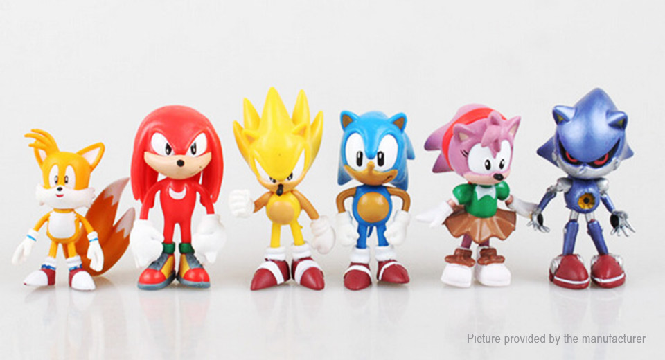 Sonic The Hedgehog Figure Doll Toy Set (6-Piece Set)