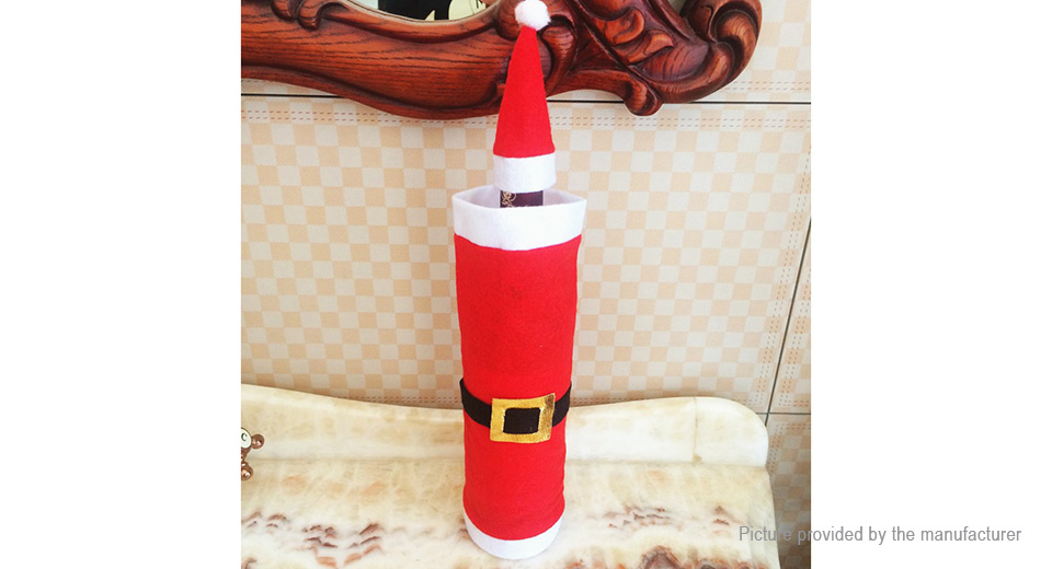 Santa's Clothes Styled Wine Bottle Cover Christmas Decor