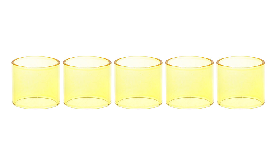Replacement Glass Tank for Limitless Sub Ohm Tank Clearomizer (5-Pack)