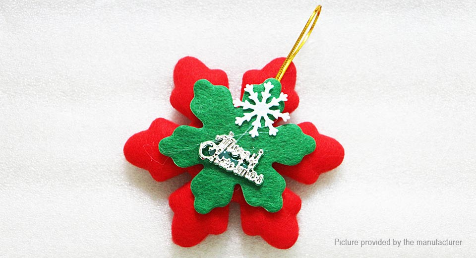 Snowflake Styled Christmas Tree Decoration Hanging Ornament