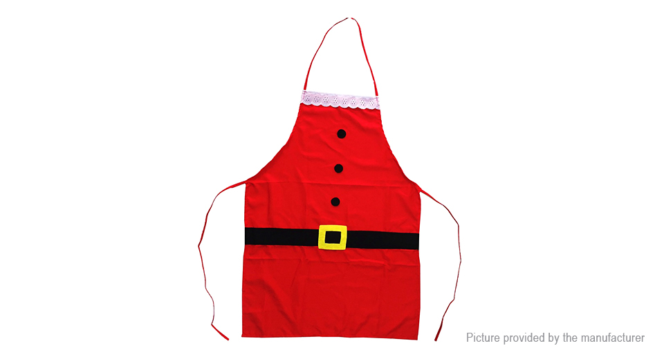 Santa Claus Styled Apron Dinner Cooking Baking Christmas Decoration for Children