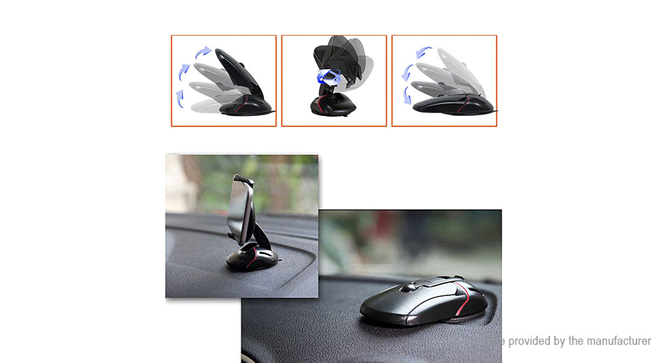 Mouse Styled Car Suction Cup Cell Phone Holder Stand