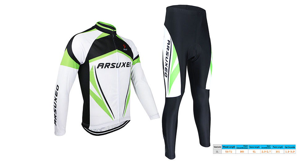 ARSUXEO Men's Outdoor Cycling Long Sleeve Suit Jersey (Size XL)