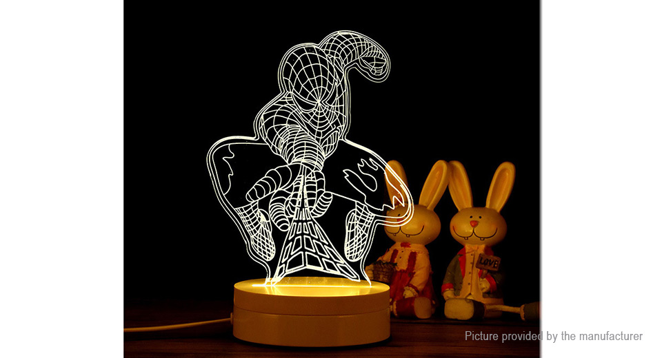 3D Visual Spider-Man Styled Desk Table LED Night Light