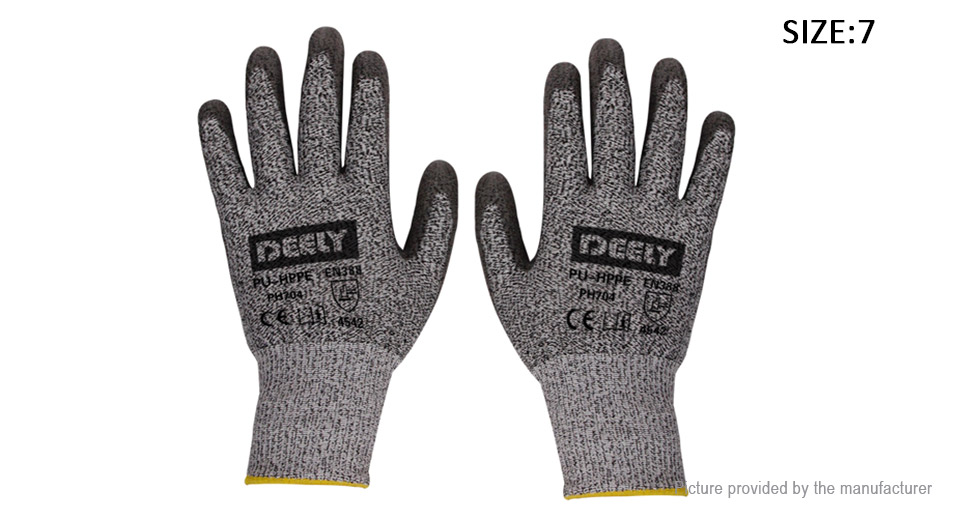 Image of Cut Resistant Safety Gloves (Size 7/Pair)