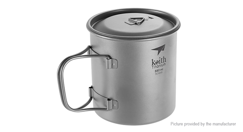 Keith Ti3206 Titanium Single-wall Vacuum Cup Mug (550ml)