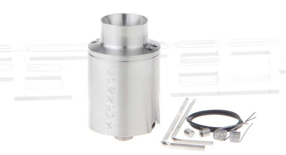 Kennedy Trickster 25 Styled RDA Rebuildable Dripping Atomizer Kennedy Trickster 25, 25mm, SS, Silver