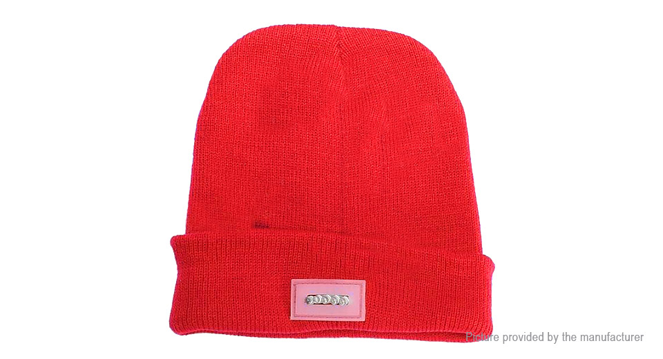 Image of 5*LED Light Winter Warm Knitted Cap Unisex Hat Beanie
