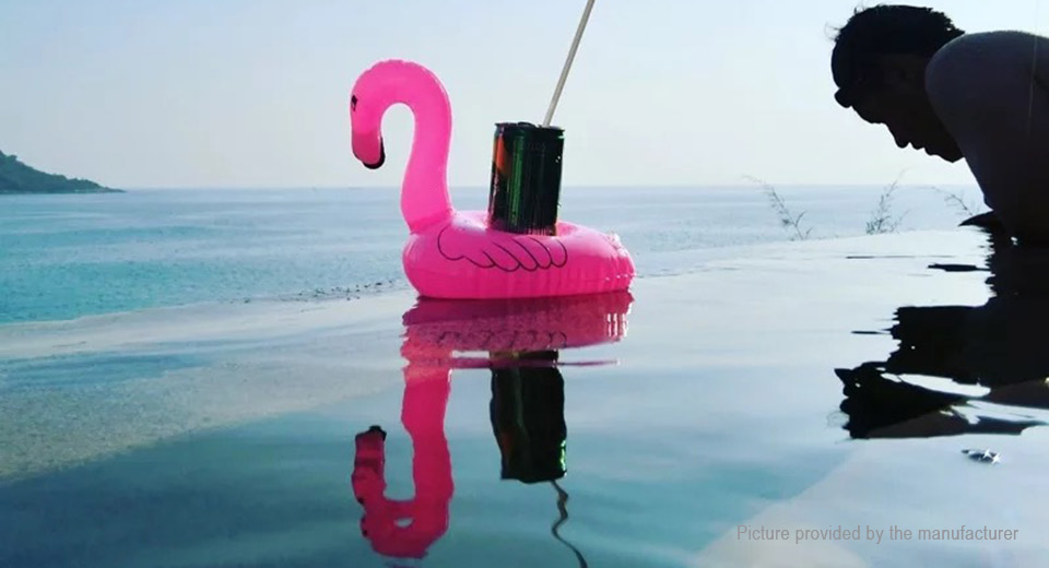 Flamingo Shaped Inflatable Swimming Pool Beach Bathing Can Holder
