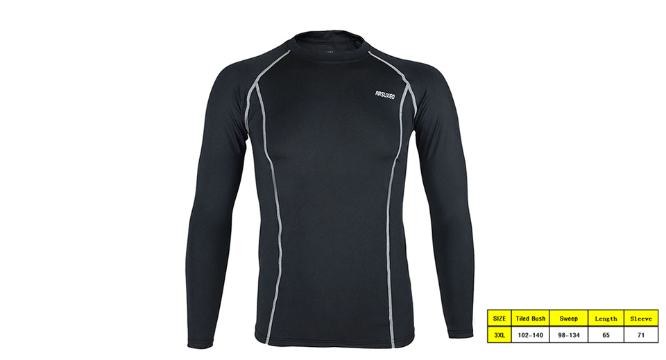 Image of ARSUXEO C19 Men's Sports Quick-dry Long Sleeve T-shirt (Size 3XL)