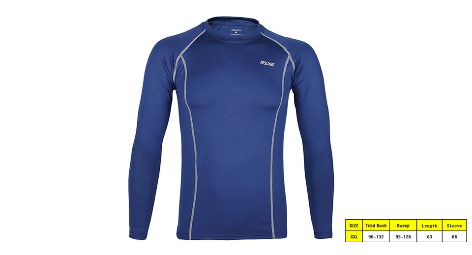 Image of ARSUXEO C19 Men's Sports Quick-dry Long Sleeve T-shirt (Size 2XL)