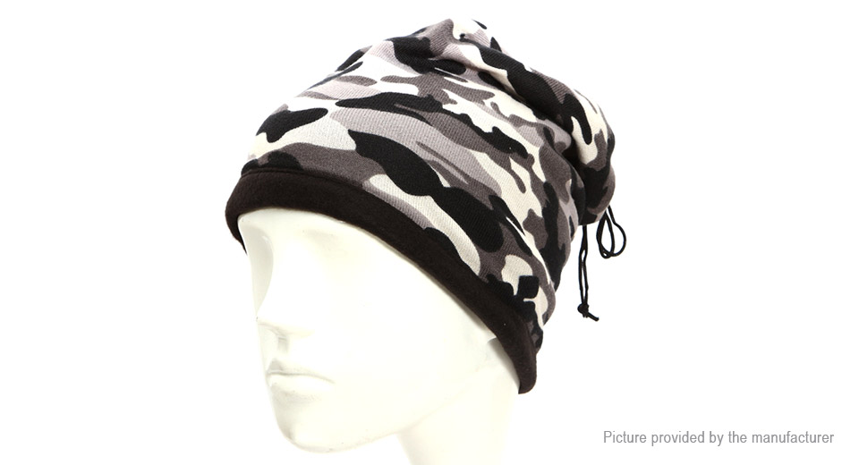 Image of AOTU AT8722 Unisex Double Layer Fleece Lining Neck Wrap Warm Hat