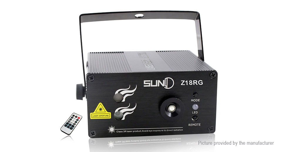 SUNY Z18RG 20mW Green + 100mW Red Laser Stage Lighting Projector