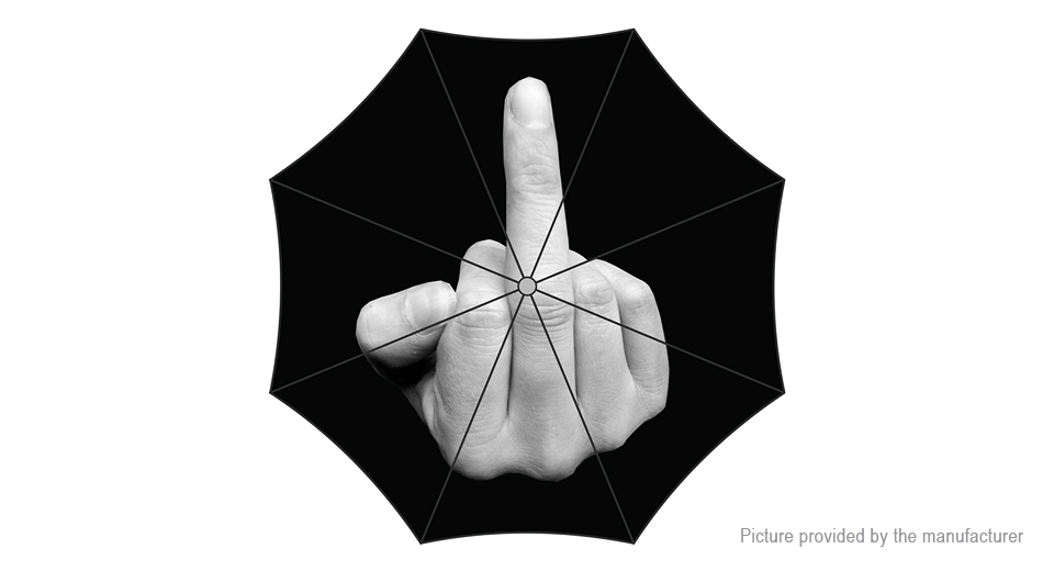 Image of Creative Cool Fashion Middle Finger Folding Umbrella