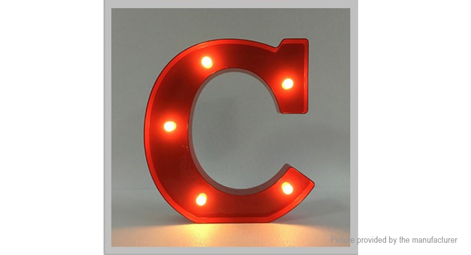 18 41 Alphabet Letter C Led Decorative Light Sign Party