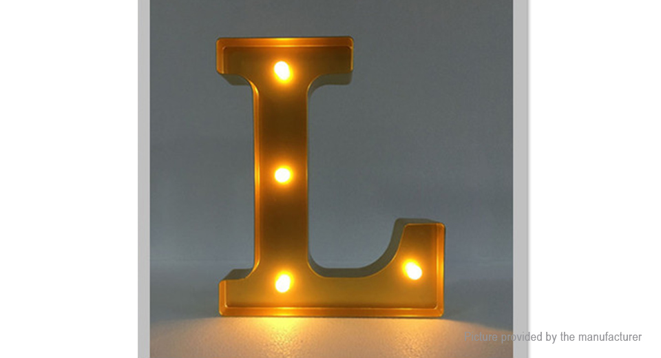 18 41 Alphabet Letter L Led Decorative Light Sign Party Wedding Decor
