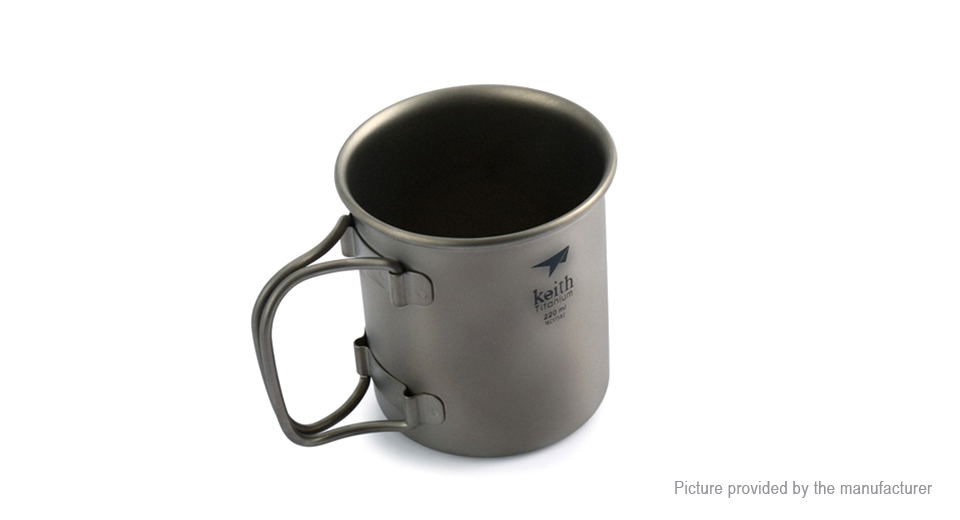 Keith Ti3200 Titanium Single-wall Cup Mug (220ml)