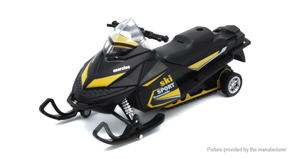 1:32 Realistic Snowmobile Model Toy Black + Yellow