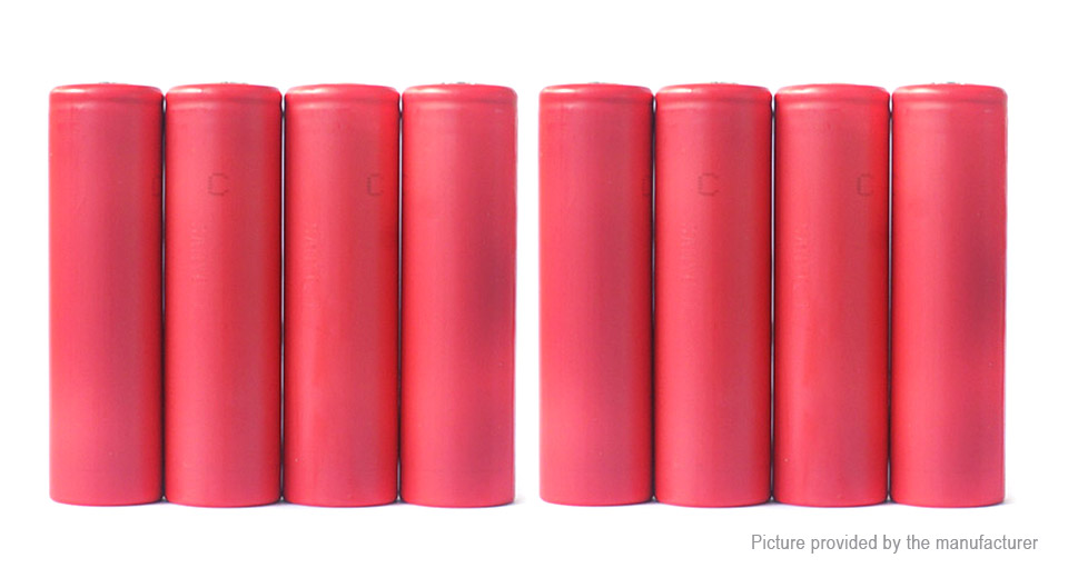 Authentic Sanyo NCR18650GA 3.6V 3500mAh Rechargeable Li-Ion Battery (8-Pack) NCR18650GA, 3500mAh, 8-Pack