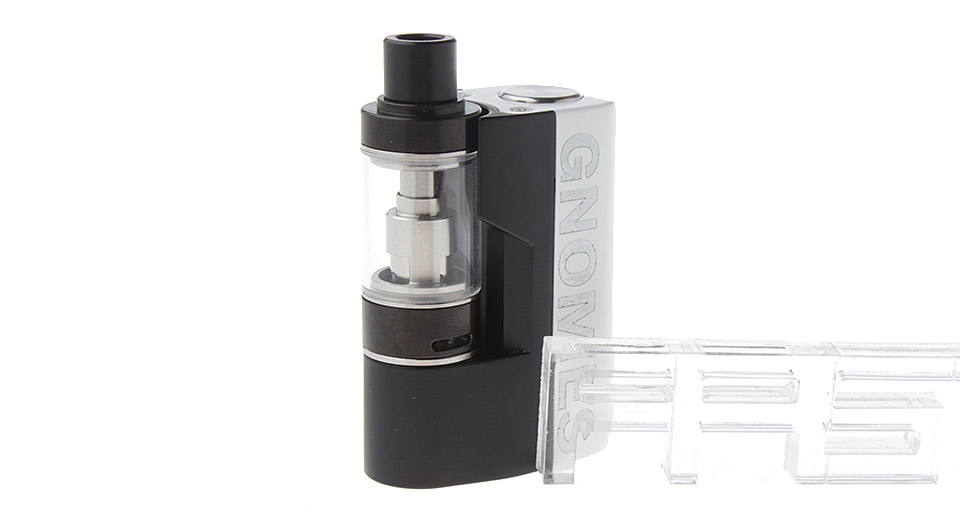 Gnomes Styled 1100mAh E-Cigarette Starter Kit, Zinc Alloy + SS, Black + White
