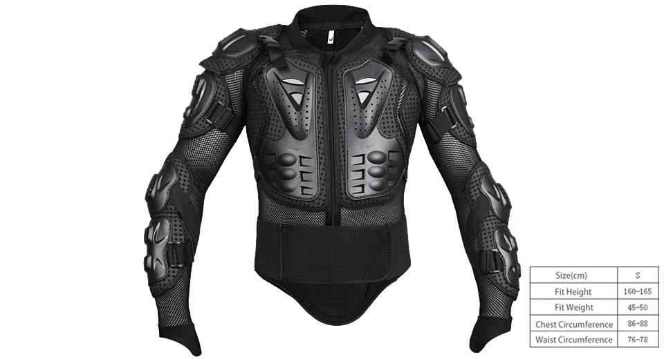Motorcycle Full Body Armor Protective Jacket Guard Gear (Size S)