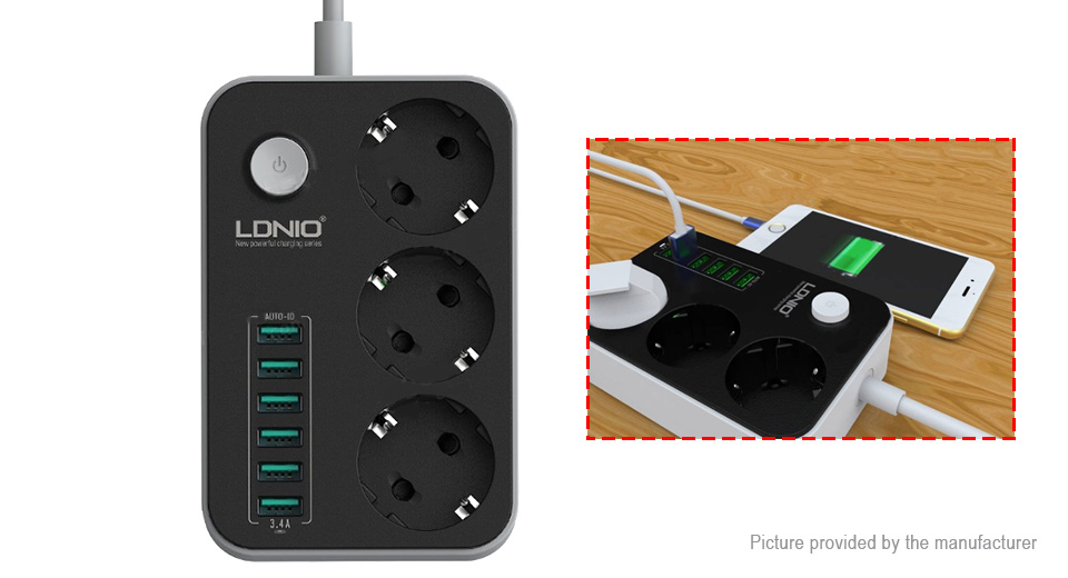 Product Image: ldnio-se3631-6-port-usb-ac-wall-charger-power