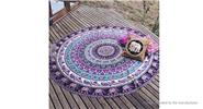 Buy Round Beach Towel Yoga Mat Tippet Polyester Tablecloth (150cm) Style W, 150cm