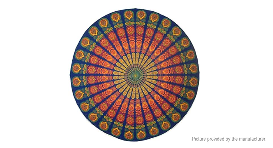 Round Beach Towel Yoga Mat Tippet Polyester Tablecloth (150cm)