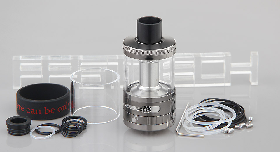 Authentic Steam Crave Aromamizer Plus RDTA Rebuildable Dripping Tank Atomizer Plus, 30mm, SS + Glass, Gun Color