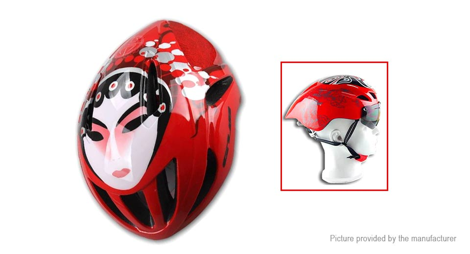 Peking Opera Mask Outdoor Sports Cycling Safety Helmet 57-62cm, Female Role