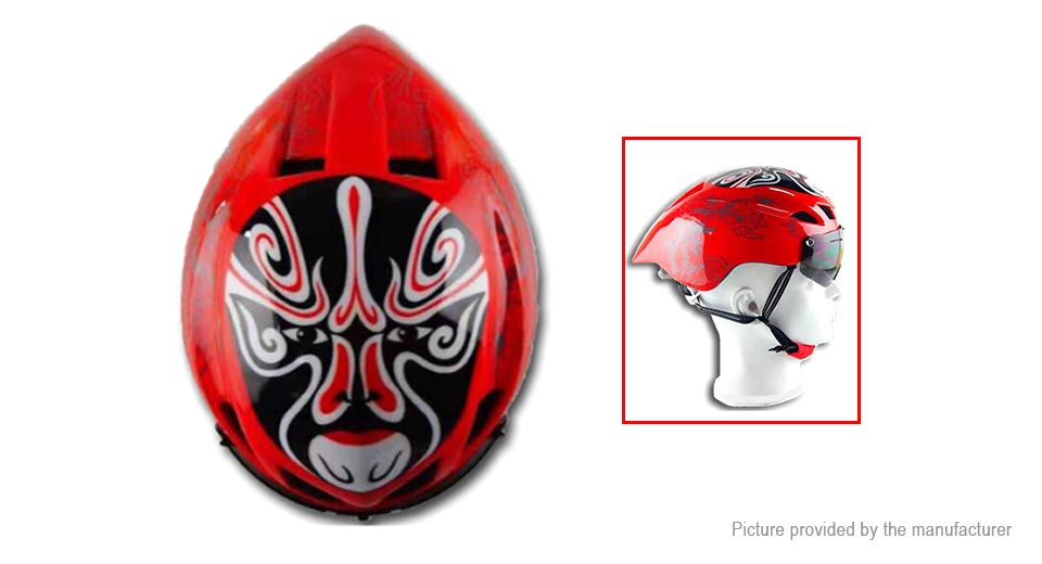 Peking Opera Mask Outdoor Sports Cycling Safety Helmet 57-62cm, Old Man