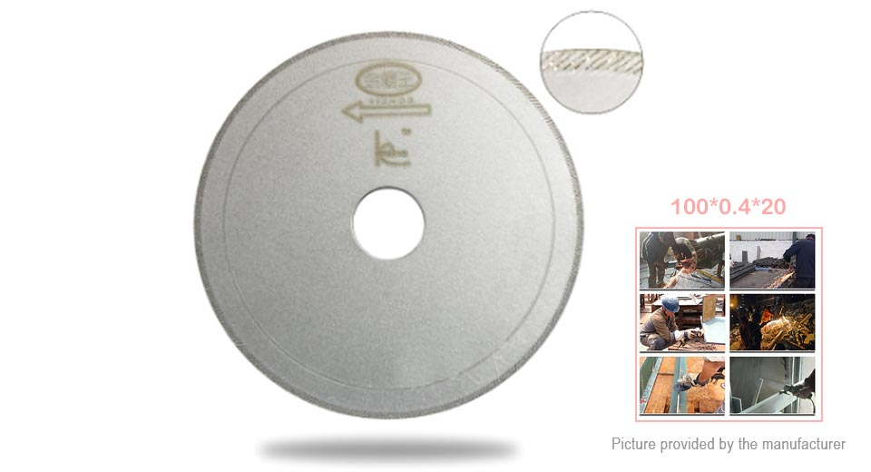 Drill The World Diamond Cutting Disc Plate (100*0.4*20mm)
