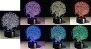 Peacock Styled 3D Visual LED Night Lamp Atmosphere Light