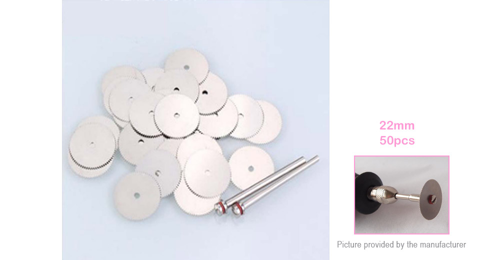 Guolao 22mm Stainless Steel Cutting Disc Plate (50-Pack)