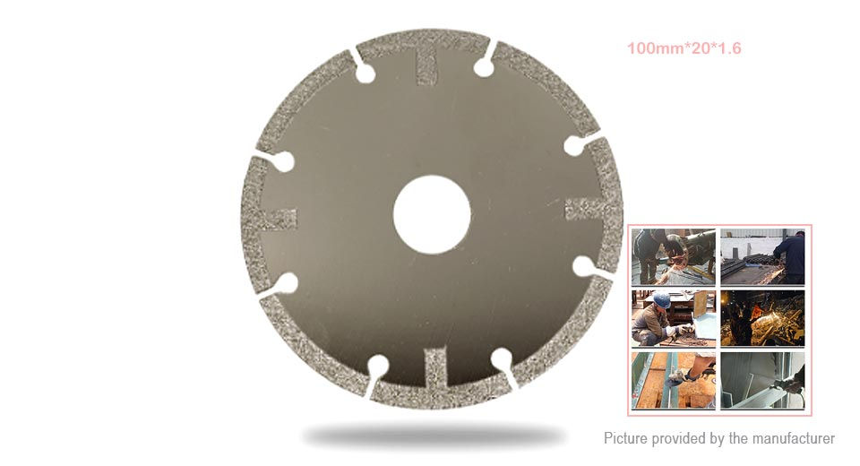 Drill The World Diamond Cutting Grinding Wheel Disc Plate (100*20*1.6mm)