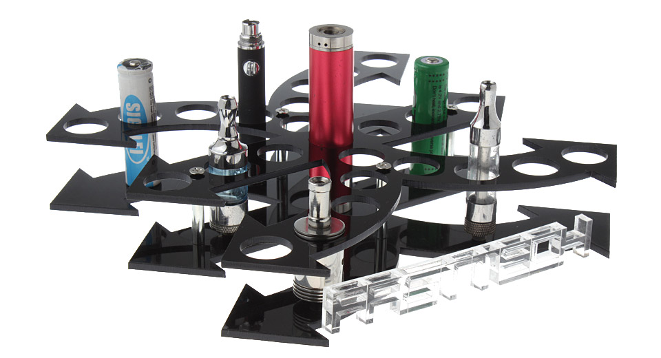 Acrylic 25-Hole Display Stand for E-Cigarettes